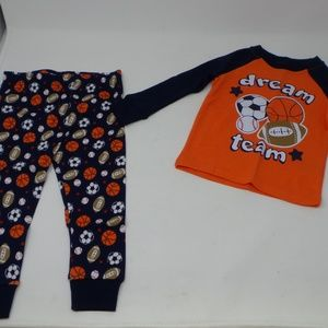 Carter's Sleepwear Boy's Football Pajama Set